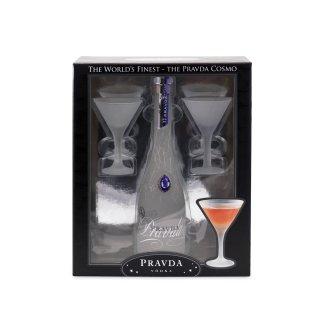 Pravda Vodka 40% Vol. 350ml Geschenkset mit Glas