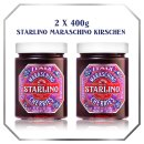 Starlino Maraschino Cherries 2 x 400g Geschenkbox mit Servierlöffel