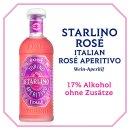 Starlino Rosé Spritz Aperitif Drink Set mit Sektflasche als Geschenk oder für den Aperitif Genuss zuhause (2x0,75l plus Glas)